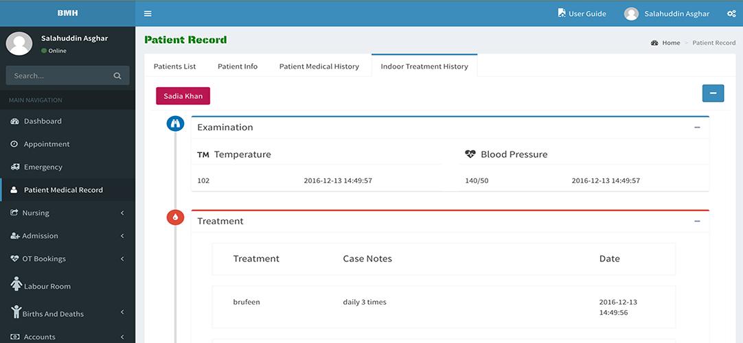 Hospital Management System - Parexons Pvt Ltd